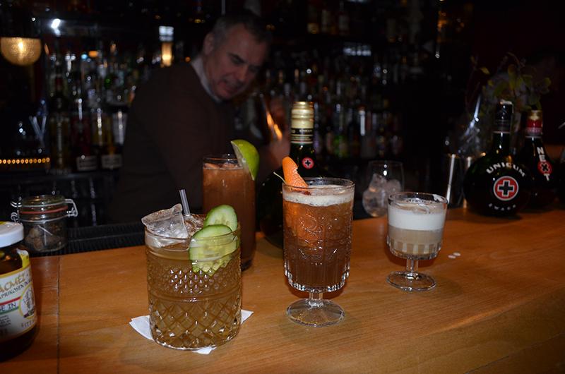 Eine Auswahl neuer Drinks mit Unicum Szilva