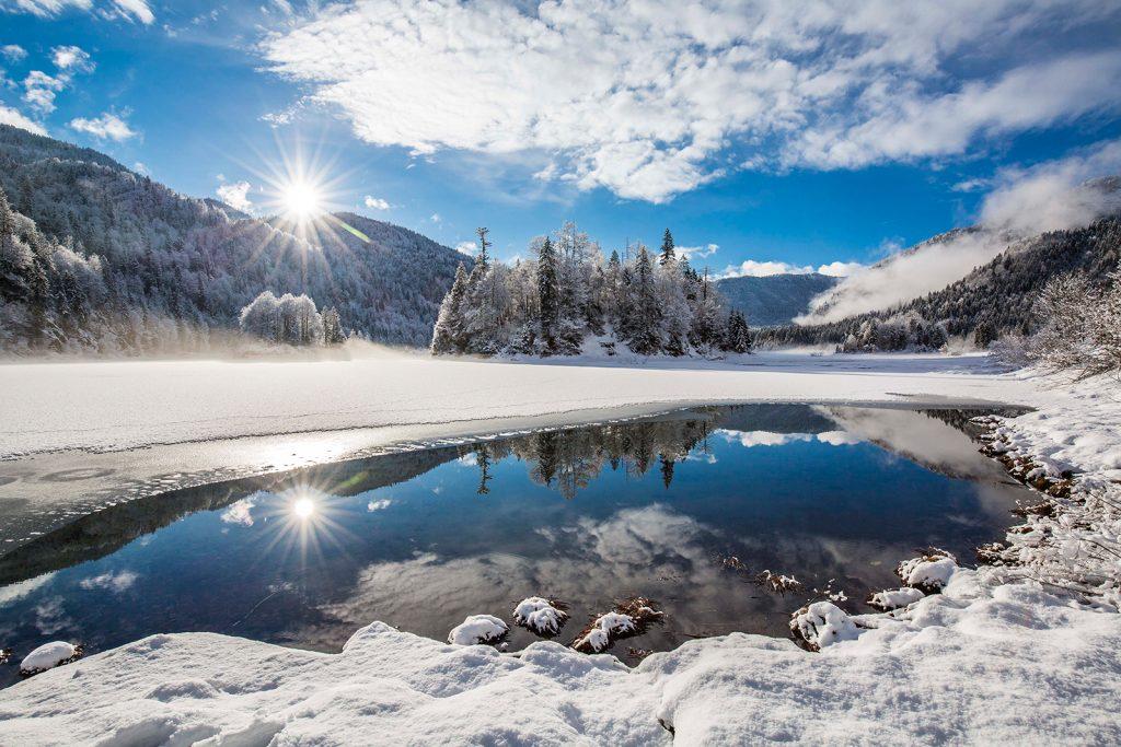 3 Seen Gebiet im Winter  Foto: Chiemgau Tourismus e.V